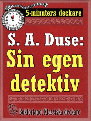 cover image of Sin egen detektiv. En historia