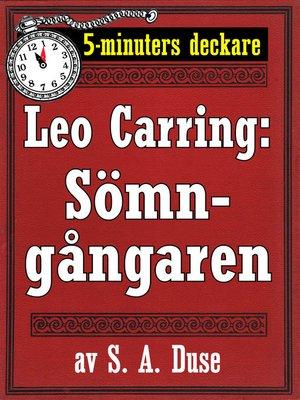 cover image of Sömngångaren. Detektivhistoria