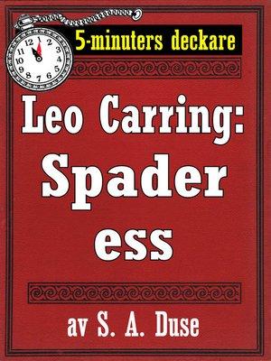 cover image of Spader ess. Detektivhistoria