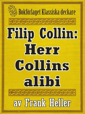 cover image of Filip Collin: Herr Collins alibi
