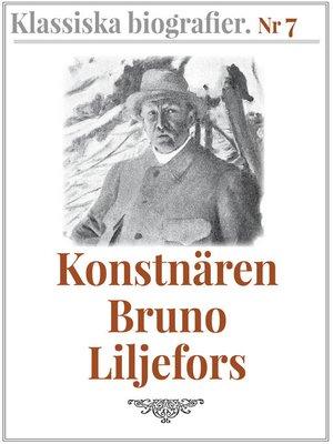 cover image of Konstnären Bruno Liljefors