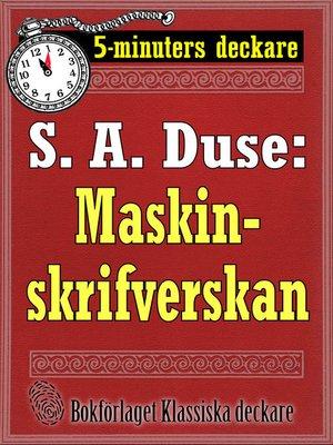 cover image of Maskinskrifverskan. Berättelse