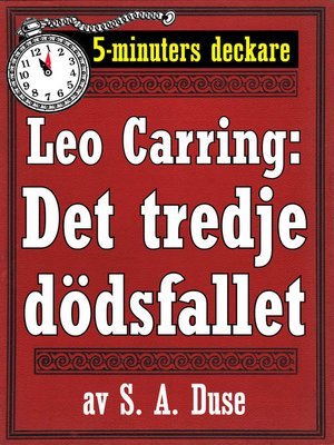 cover image of Det tredje dödsfallet. Detektivhistoria