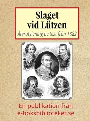 cover image of Slaget vid Lützen