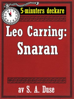cover image of 5-minuters deckare. Leo Carring: Snaran