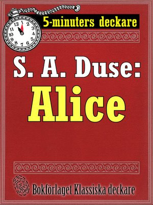 cover image of Alice. Berättelse