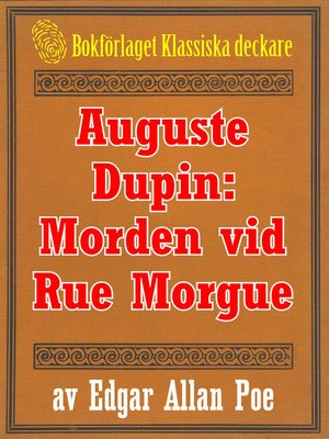 cover image of Auguste Dupin: Morden vid Rue Morgue