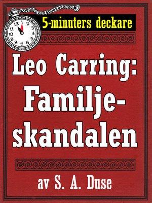 cover image of Familjeskandalen. Också en detektivhistoria
