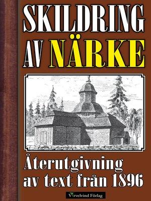 cover image of Skildring av Närke år 1896