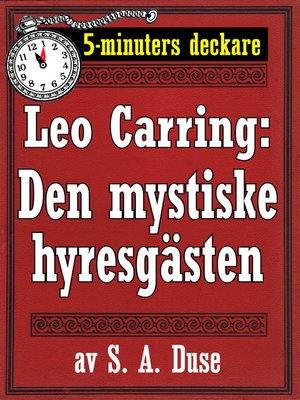 cover image of Den mystiske hyresgästen. Kriminalberättelse
