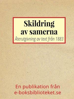 cover image of Skildring av samerna