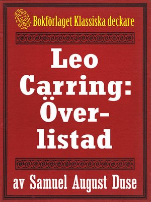 cover image of Leo Carring: Överlistad