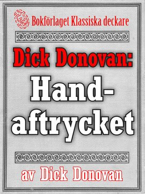 cover image of Dick Donovan: Handaftrycket