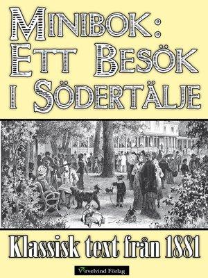 cover image of Minibok: Ett besök i Södertälje år 1881
