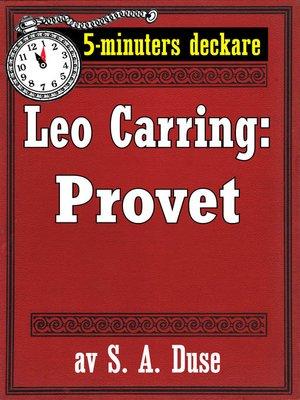 cover image of Provet. Detektivhistoria