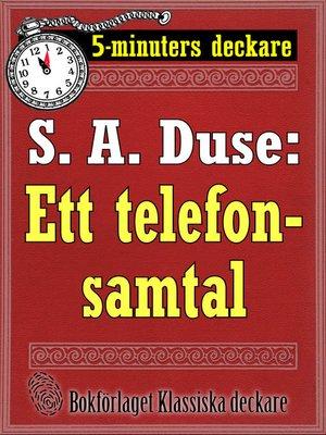 cover image of Ett telefonsamtal. Detektivhistoria