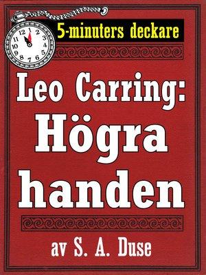 cover image of Högra handen. Detektivberättelse
