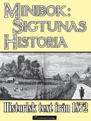 cover image of Minibok: Sigtunas tidiga historia