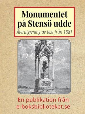 cover image of Monumentet på Stensö udde