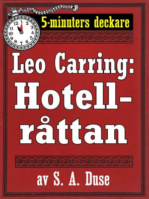cover image of 5-minuters deckare. Leo Carring: Hotellråttan