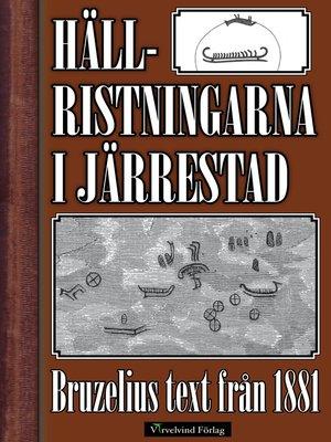 cover image of Hällristningarna i Järrestad