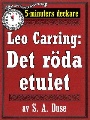 cover image of Det röda etuiet. Detektivhistoria