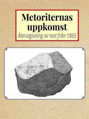 cover image of Om meteoriternas uppkomst
