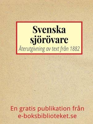 cover image of Svenska sjörövare