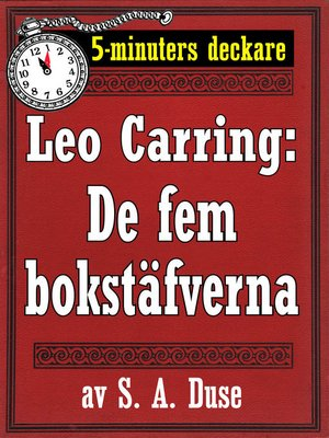 cover image of De fem bokstäfverna. Detektivhistoria