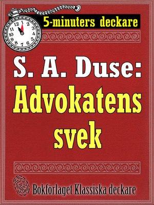 cover image of Advokatens svek. En historia