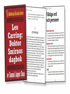 cover image of Leo Carring: Doktor Smirnos dagbok