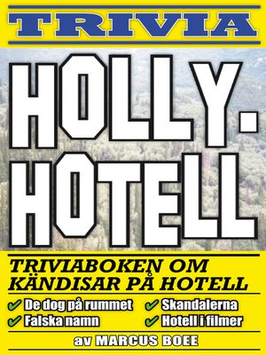 cover image of Hollyhotell