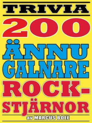 cover image of Ännu fler galna rockstjärnor
