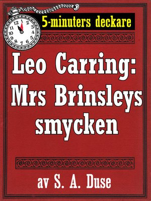 cover image of 5-minuters deckare. Leo Carring: Mrs Brinsleys smycken. Detektivhistoria