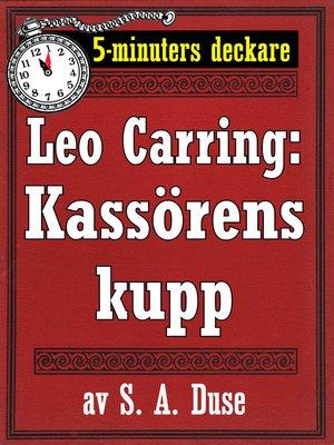 cover image of Kassörens kupp. Detektivhistoria