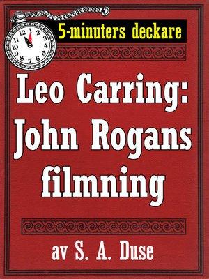 cover image of John Rogans filmning