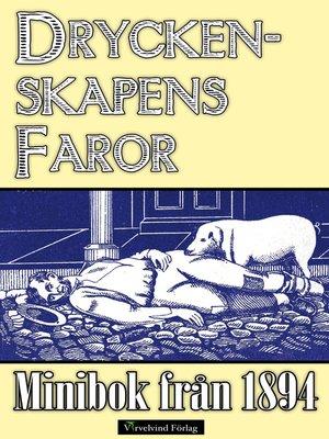 cover image of Minibok: Dryckenskapens faror