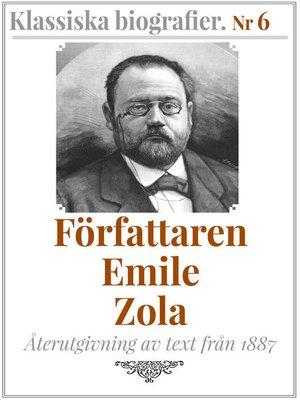 cover image of Författaren Emile Zola