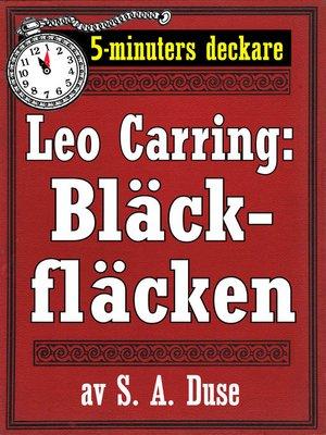 cover image of Bläckfläcken. Detektivberättelse