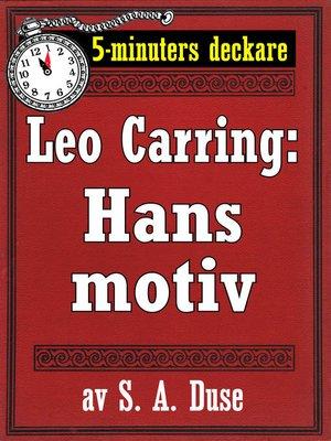 cover image of Hans motiv. Detektivhistoria