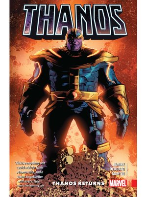 cover image of Thanos (2016), Volume 1