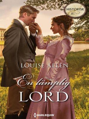 cover image of En lämplig lord