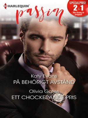 cover image of På behörigt avstånd / Ett chockerande pris