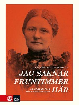 cover image of Jag saknar fruntimmer här