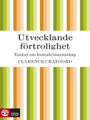 cover image of Utvecklande förtrolighet