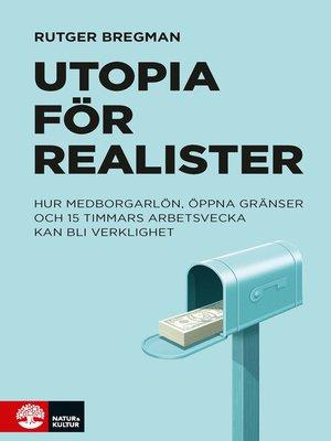 cover image of Utopia för realister