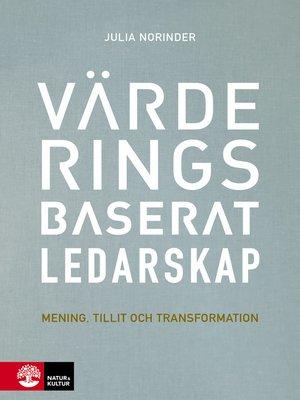 cover image of Värderingsbaserat ledarskap