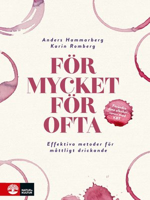 cover image of För mycket för ofta