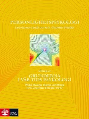 cover image of Personlighetspsykologi