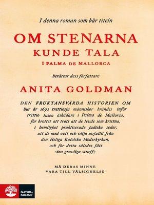 cover image of Om stenarna kunde tala i Palma de Mallorca